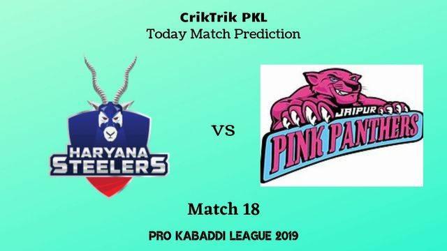 hs vs jpp match18 - Haryana Steelers vs Jaipur Pink Panthers Today Match Prediction - PKL 2019
