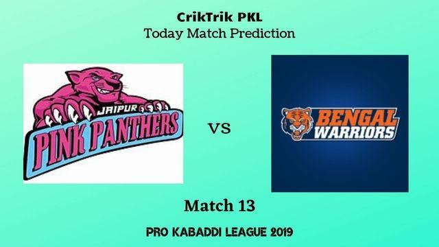 jpp vs bw match13 - Jaipur Pink Panthers vs Bengal Warriors Today Match Prediction - PKL 2019
