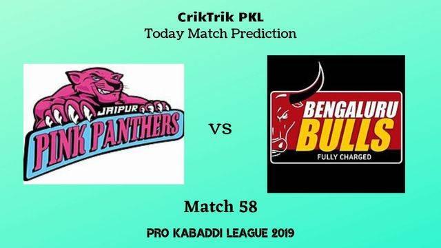 jaipur vs bengaluru match58 - Jaipur Pink Panthers vs Bengaluru Bulls Today Match Prediction - PKL 2019