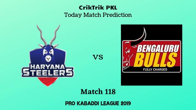 haryana vs bengaluru match118 prediction - Haryana Steelers vs Bengaluru Bulls Today Match Prediction - PKL 2019